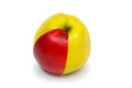 Red part green apple Stock Photography