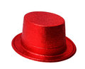 Red party hat isolated on white clipping path. Royalty Free Stock Photo