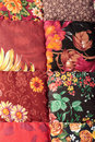 The red patchwork quilt Royalty Free Stock Images