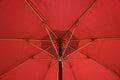 Red Patio umbrella Royalty Free Stock Photo