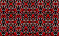 Red pattern on black background seamless abstract abstract flowers a Stock Images