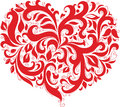 Red patterned heart Royalty Free Stock Photos