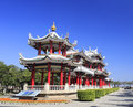 Red pavilion in jiageng park in amoy city china Royalty Free Stock Image