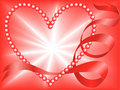 Red Pearl Heart Royalty Free Stock Photo
