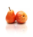 Red pears on white Royalty Free Stock Images
