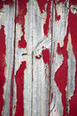 Red peeling painting on wall Royalty Free Stock Photo
