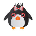 Red penguin cute yellow cartoon animal Stock Images