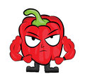 Red pepper cartoon character vector illustration of a on white background Royalty Free Stock Photography