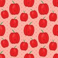 Red pepper seamless pattern vector illustration in flat style Royalty Free Stock Photo