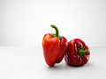 Red pepper tasty fresh paprika over white background Royalty Free Stock Image
