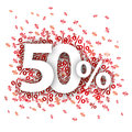 50 Red Percents Royalty Free Stock Photo