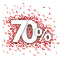 70 Red Percents Royalty Free Stock Photo