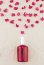 Red perfume bottle Royalty Free Stock Photo