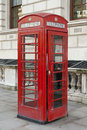 Red phone booth british in london Stock Photos