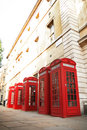 Red phone booths Royalty Free Stock Photography