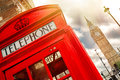 Red phone box in London Royalty Free Stock Photo