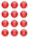 Red phone keyboard Royalty Free Stock Photography