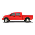 Red pickup isolated on white Royalty Free Stock Photography
