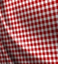 Red picnic cloth texture Stock Photography