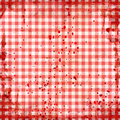 Red picnic tablecloth Stock Images