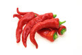 Red pimento pictured a group in a white background Royalty Free Stock Images