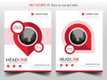 Red pin annual report Brochure design template vector. Business Flyers infographic magazine poster.Abstract layout template ,