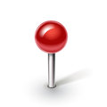 Red pin on white background single Royalty Free Stock Photos