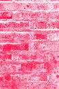 Red and pink brick wall textute background Stock Photos