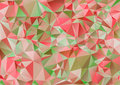 Red pink and Green polygonal illustration. Geometric background. Triangular design in Raster.