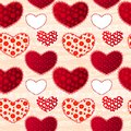 Red and Pink Love Valentin's Day Seamless Pattern Stock Photography