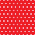 Red & Pink Polka Dot Pattern Stock Photo