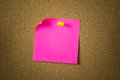 Red or pink sticky note Royalty Free Stock Photo