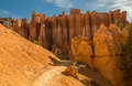 Red pinnacles (hoodoos) of Bryce Canyon, Utah, USA Stock Images