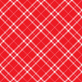 Red Plaid Royalty Free Stock Photo