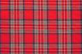 Red plaid, checkered scottish fabric background