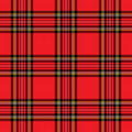 Red Plaid Pattern Royalty Free Stock Photo