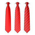 Red plain and striped ties Royalty Free Stock Photo