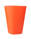 Red plastic cup isolated on white background Royalty Free Stock Photo