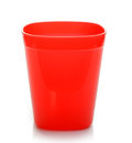 Red Plastic Cup on white background Royalty Free Stock Photo