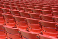 Red plastic seats, rear Royalty Free Stock Photos