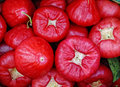Red plums at the market Royalty Free Stock Photo