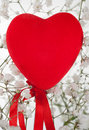 Red plush heart Royalty Free Stock Images