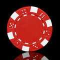 Red poker chip Royalty Free Stock Photo