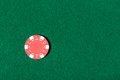 Red poker chip is on the table Royalty Free Stock Photography