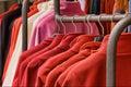 Red polar fleece jackets Royalty Free Stock Photos