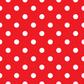 Red polka dot seamless fabric retro background or pattern Stock Photos