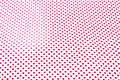 Red polka dots textile as background Royalty Free Stock Image