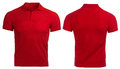 Red Polo shirt, clothes Royalty Free Stock Photo