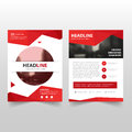 Red polygon Vector annual report Leaflet Brochure Flyer template design, book cover layout design, abstract business presentation Royalty Free Stock Photo