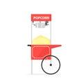 Red popcorn cart Royalty Free Stock Photo